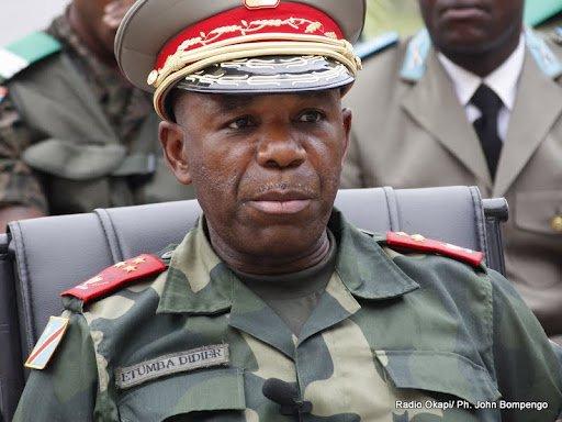 Gen Didier Etumba, chef d'État Major général des FARDC