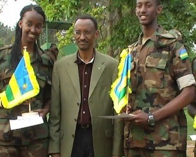 LT Ivan Cyomoro on the right with his father and sister