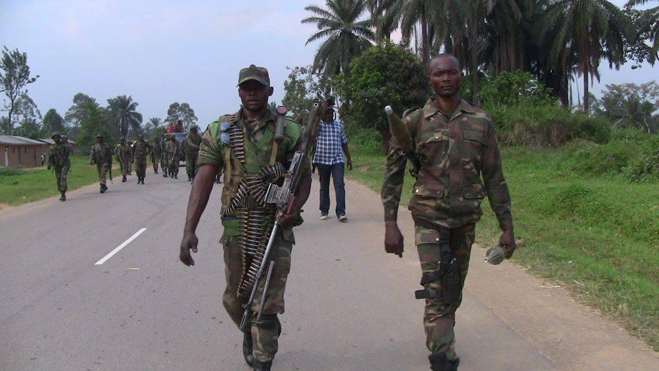 Les soldats FARDC après avoir délogé le M23 du camp de Rumangabo