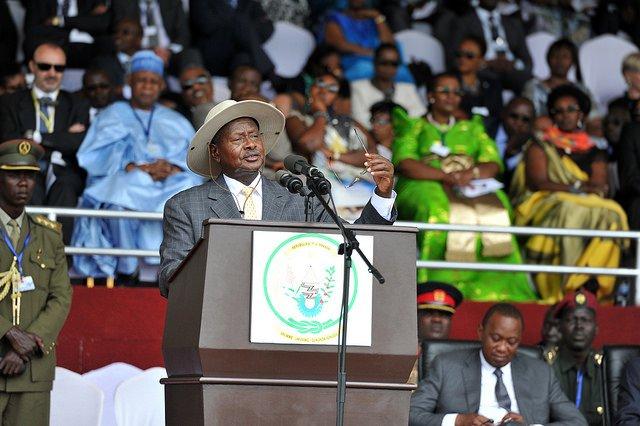 Yoweri Museveni récemment à Kigali