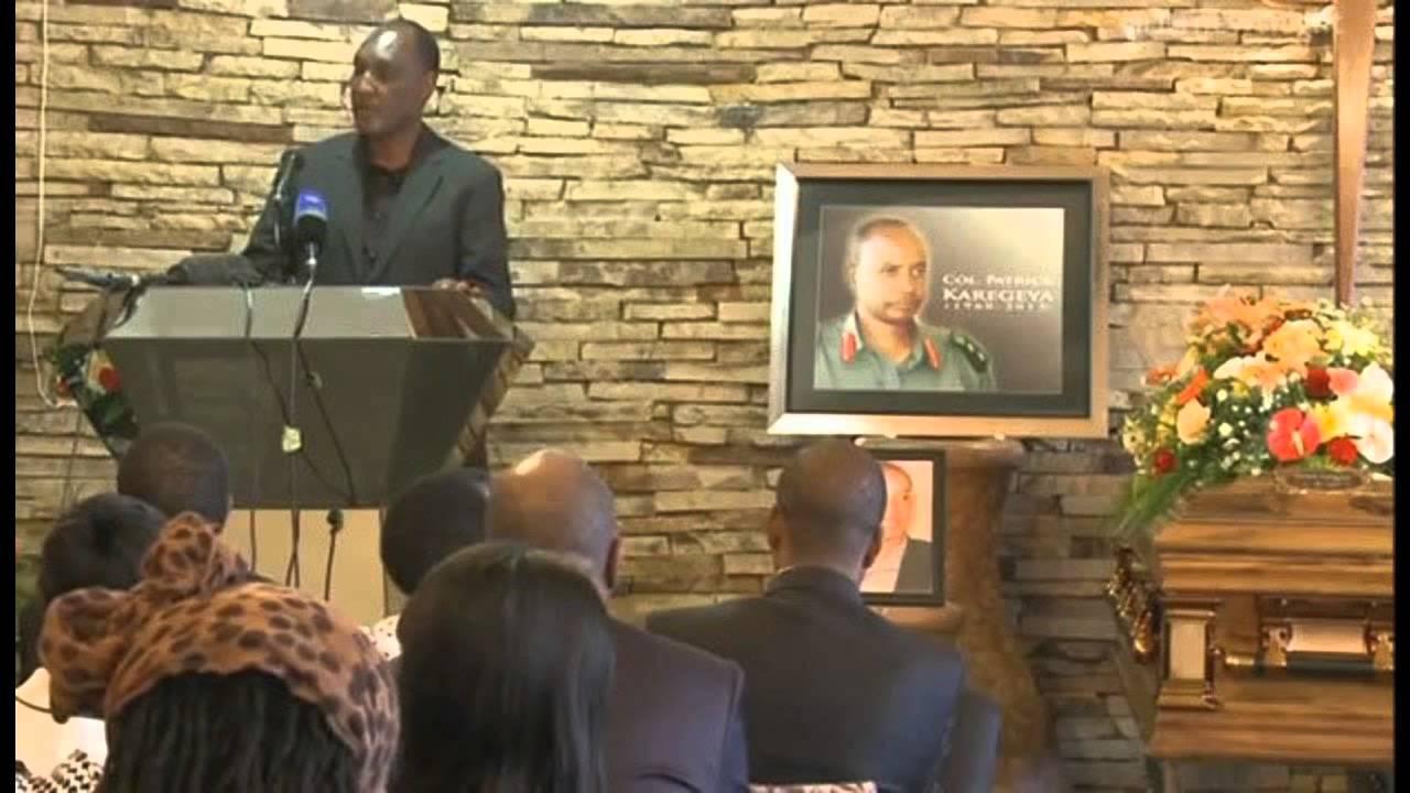 Kayumba Nyamwasa mu muhango wo gusezera kuri Patrick Karegeya