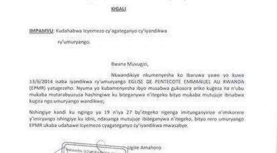 RWANDA: KUBONEKERWA BAMBAYE IMYENDA YERA NGO YANDITSEHO «FDLR MOUVEMENT», GUTUMYE RGB IFUNGA ITORERO RYA EPEMR.