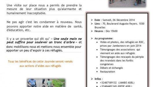 «SOS REFUGIÉS»: LA SOCIÉTÉ CIVILE SE MOBILISE POUR LES REFUGIÉS RWANDAIS A L'EST DE LA RDC.