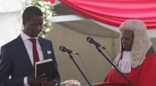 LUSAKA: ZAMBIA HAS GOT A NEW PRESIDENT; EDGAR LUNGU.(PICTURES)