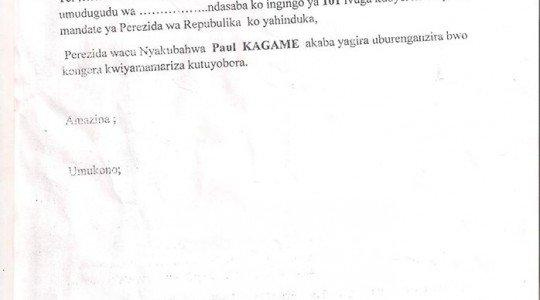 RWANDA: ABATURAGE BAKOMEJE GUTERWA UBWOBA NGO BASINYIRE KO KAGAME AZAKOMEZA KUBA PEREZIDA.