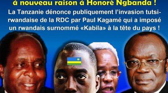 RDC: LA TANZANIE DENONCE PUBLIQUEMENT L'INVASION TUTSI-RWANDAISE DE LA RDC PAR PAUL KAGAME.