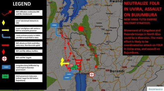 RDC: LE SUD-KIVU UN PASSAGE POUR ATTAQUER LE BURUNDI.
